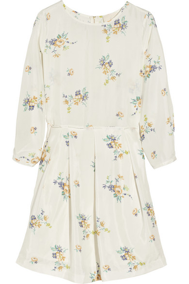 Band of Outsiders | Floral-print silk-habotai dress | NET-A-PORTER.COM