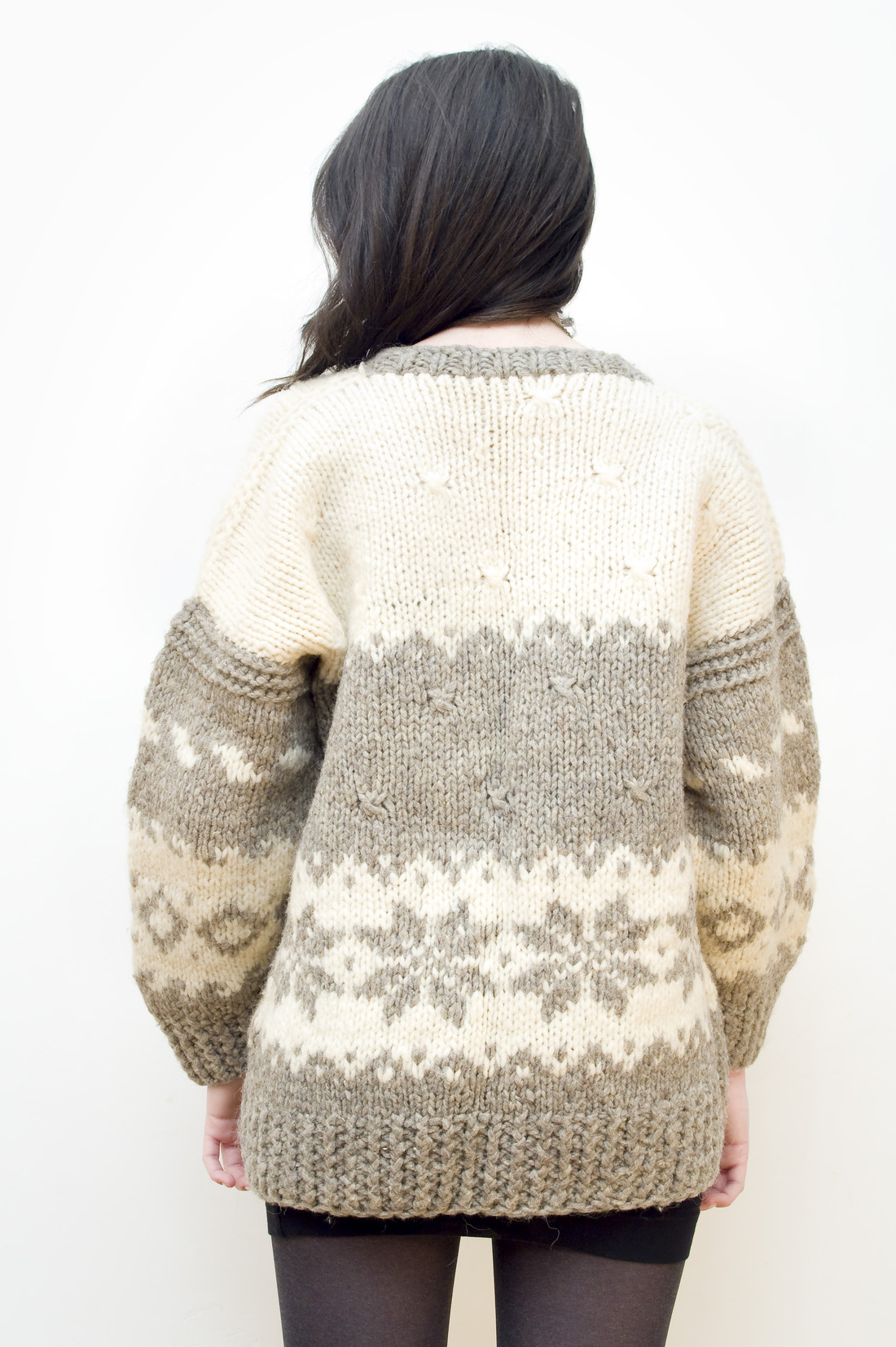 Norwegian patterned sweater - Pop Sick Vintage
