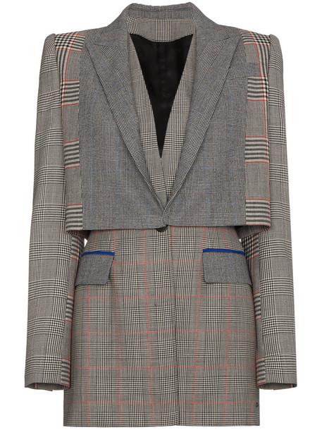 Alexander Mcqueen blazer women wool grey jacket