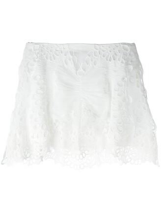 skirt embroidered white