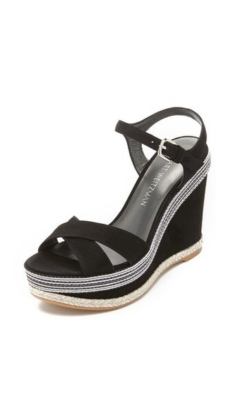 sandals wedge sandals black shoes