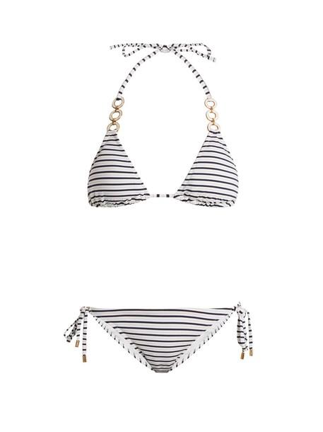 Melissa Odabash bikini triangle bikini triangle white blue swimwear
