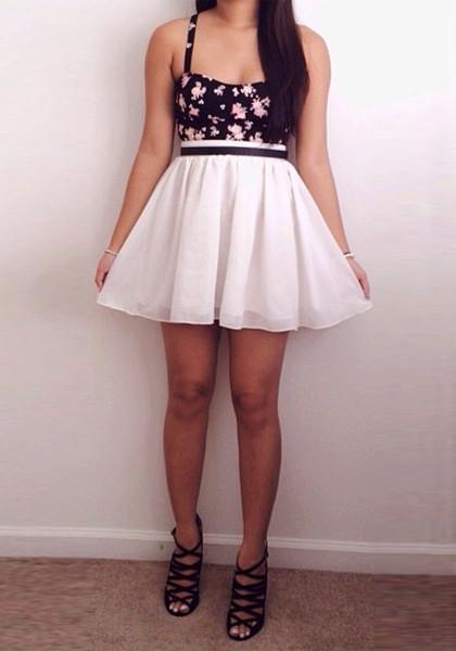Chiffon Short Skirt - Ivory - Bottom | Lookbook Store