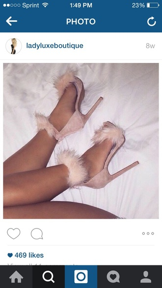 shoes high heel sandals sandals style nude nude high heels fashion fluffy chic classy heels nude sandals
