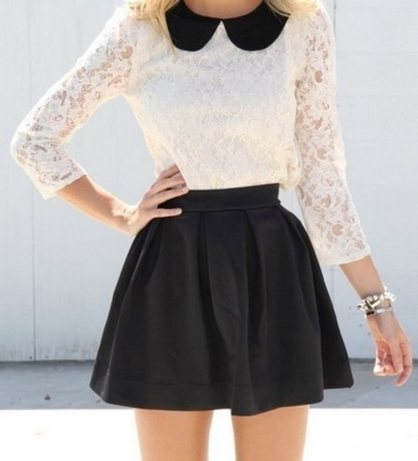 fashion style classy skirt blouse