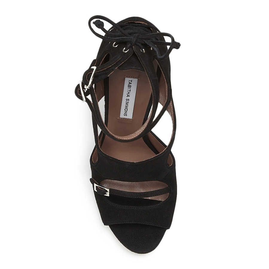 Tabitha simmons bailey black suede sandals