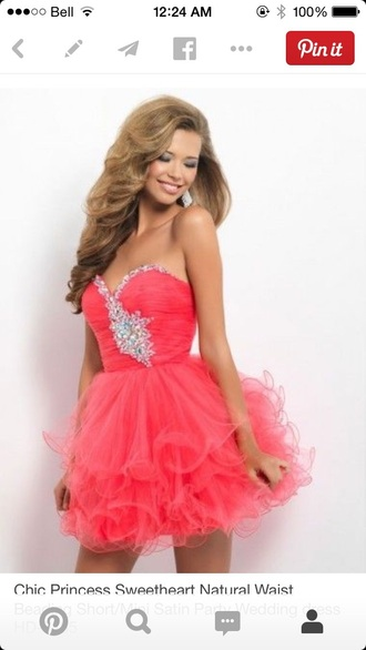 pink dress pink dress prom dresses /graduation dress .party dress pink prom dress jewels short dress