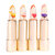 Kailijumei Color Changing Jelly Flower Lip Stick Gold Foil Moisturizing Clear Lipstick Kiss-proof