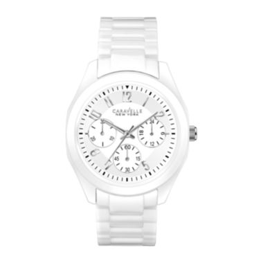 Caravelle New York® Ladies Ceramic Chronograph Bracelet Watch - JCPenney