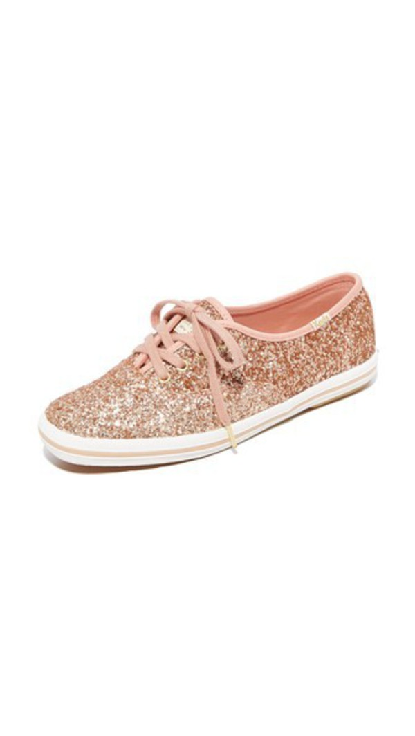 Keds x Kate Spade New York Glitter Sneakers in gold / rose