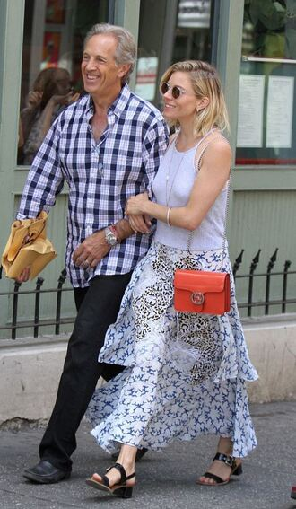 skirt top maxi skirt summer outfits sienna miller