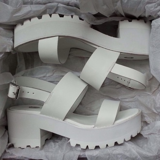 White Chunky Sandals - Shop for White Chunky Sandals on Wheretoget