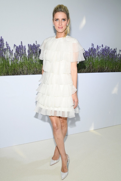 dress nicky hilton heels high heels white dress mini dress summer summer dress summer outfits shoes