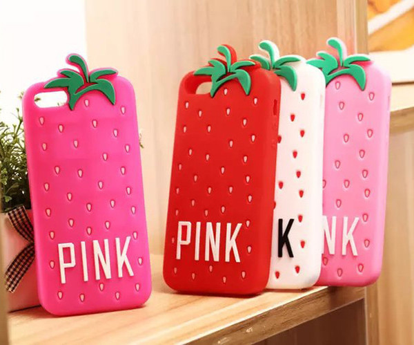 Victoria Secret PINK Strawberry cover For iphone 4 4s / 5 5s