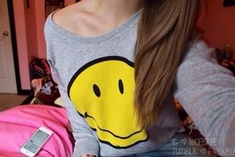 grey smile smiley tumblr outfit