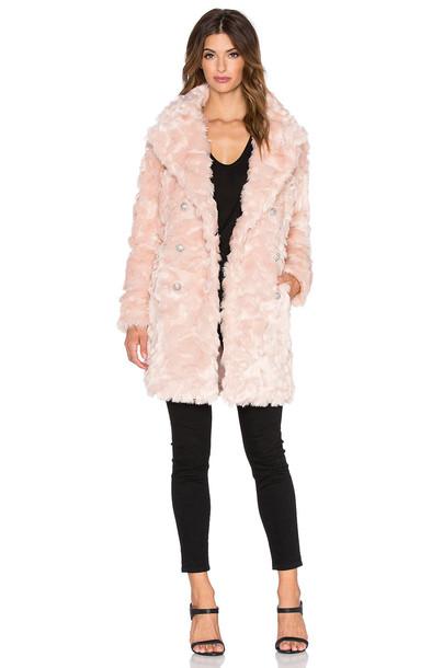olcay gulsen coat faux fur coat fur coat fur faux fur pink