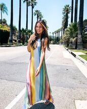 dress,long dress,maxi dress,colorful dress,multicorol,summer dress,shoes,sandals