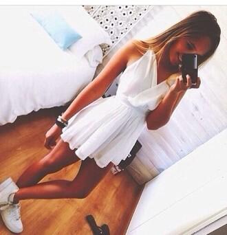 dress white dress white selfie boho chic boho dress hippie hippie dress