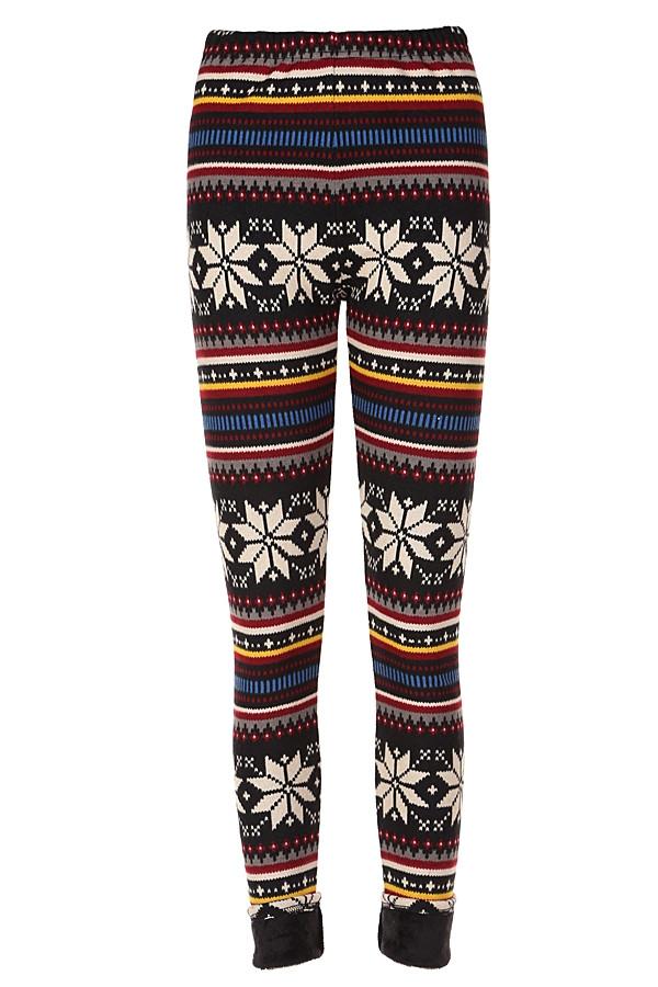 Joy to the world fleece leggings