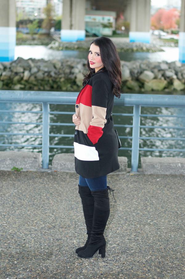 8b2b6d4ef16 gumboot glam blogger coat jeans shoes bag top jewels.