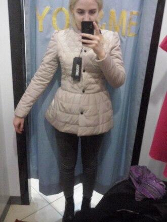 jacket ivory winter jacket