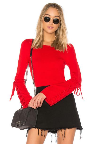 525 america sweater red