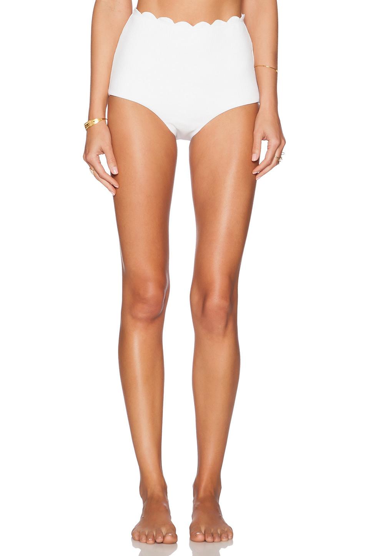 Marysia Swim Palm Springs High Waist Bikini Bottom in white