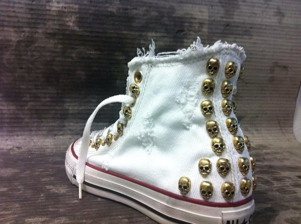 shoes converse skull