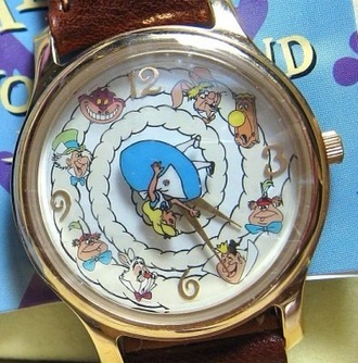 jewels watch wonderland alice in wonderland gold