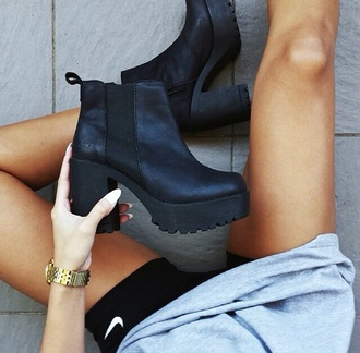 shoes ankle boots black matte windsorsmith heals lipstick shoes
