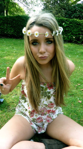 jewels flowers floral headband headband t-shirt