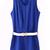Blue Sleeveless Pleated Belt Chiffon Jumpsuits - Sheinside.com