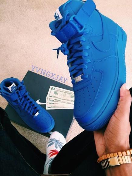 blue shoes nike air