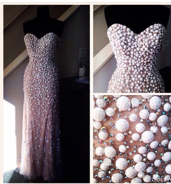 dress prom dress gems on dress