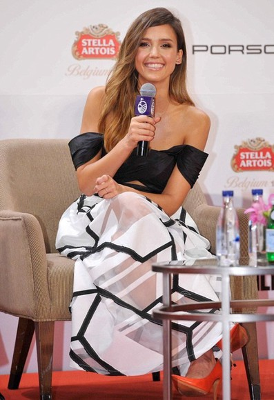 sheer skirt jessica alba