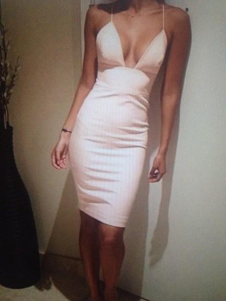 dress beige classy