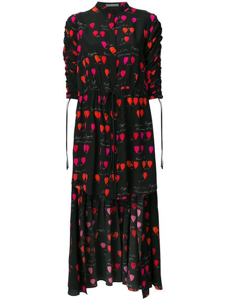 Alexander Mcqueen shirt women print black silk top