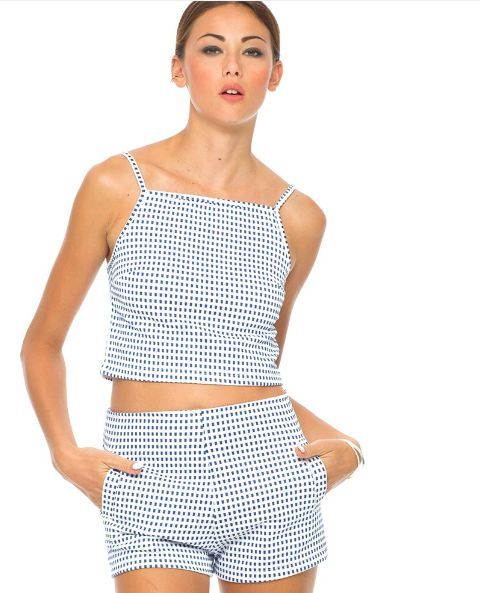 New square crop top size xs