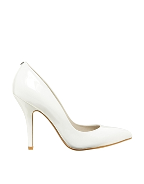 Faith | Faith Callaway White Patent Heeled Court Shoes at ASOS