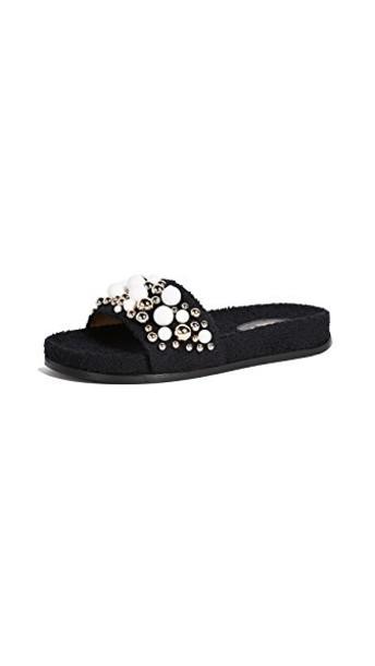 Aquazzura pool black shoes