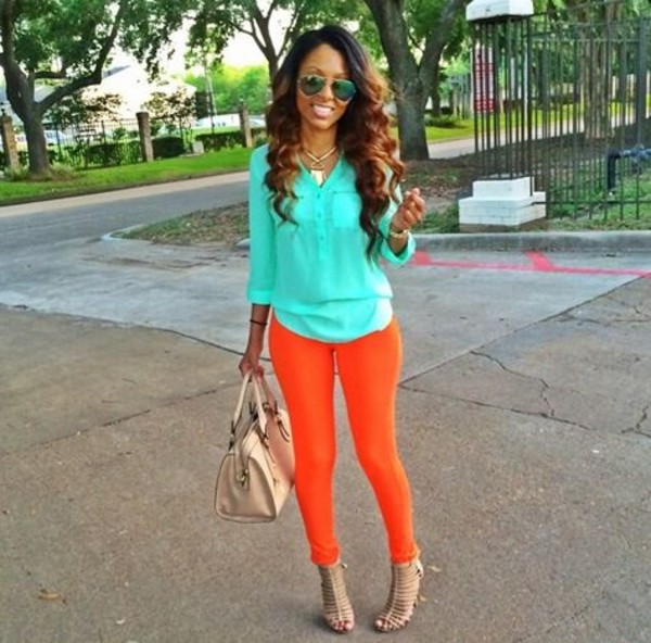 jeans blouse shoes bag