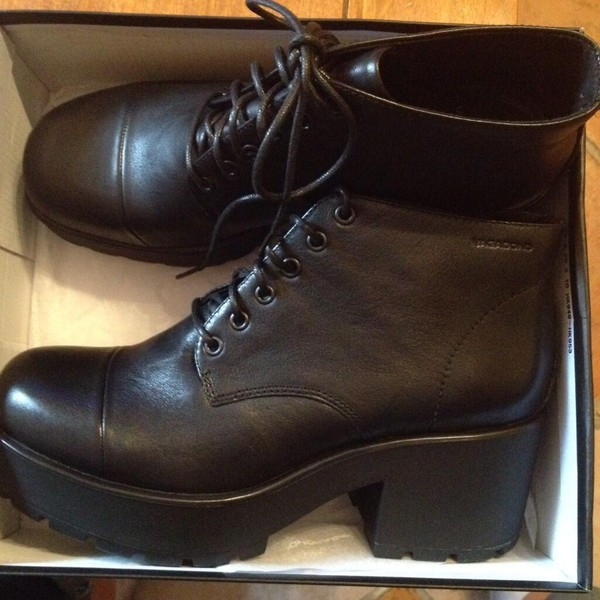shoes boots black high heels combat boots