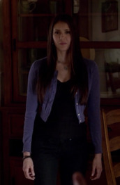 sweater,the vampire diaries,elena,elena gilbert,cropped sweater,purple-blue,cropped cardigan