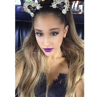 hair accessory ariana grande cat ears headband fashion halloween makeup