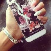 jewels,phone cover,iphone,cover,Accessory,floral,flowers,dark,designer case,designer,technology,iphone cover,iphone case,iphone 5 case,yves saint laurent,ysl iphone cover,ysl