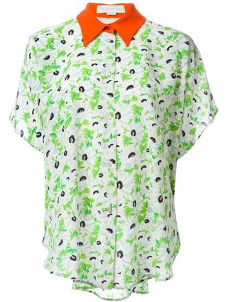 shirt floral print nude top