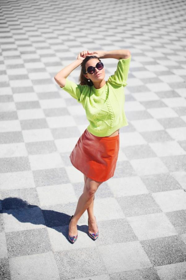 frassy blogger skirt shoes