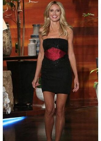 dress strapless mini dress heidi klum