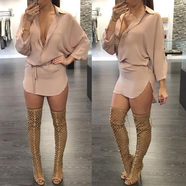 Long Sleeve Blouse Dresses 38