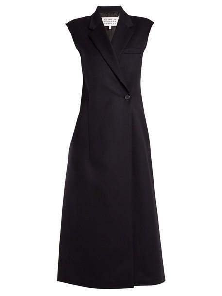 MAISON MARGIELA dress sleeveless wool navy